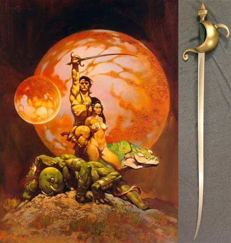 Frank Frazetta Warlord of Mars Cover